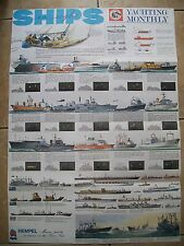 Yachting Monthly. Ships in Sight Fold-Out Poster Issued with the July 1981 issue