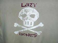 BOYS BEIGE LAZY BONES T-SHIRT ** AGE 5-6 ** REBEL @ PRIMARK