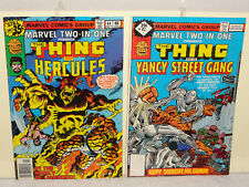 Bronze Age MARVEL TWO IN ONE 2 BOOK LOT 44 47 THING HERCULES YANCY STREET GANG F