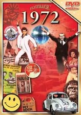 1972 Nostalgia DVD Greeting Card for 46th Anniversary, Birthday, Reunion Trivia