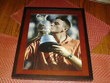 Ben Curtis PGA Golf Signed 11x14 Framed British Open Trophy Photo