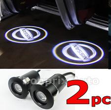 2 Nissan LED Éclairage Porte Laser Logo Projecteur Qashqai Micra x-trail Leaf