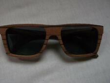 Holzetui Putztuch Holz unisex Beeber Sonnenbrille rund aus Echtholz