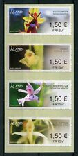 Aland 2018 MNH Orchids Franking Labels 4v S/A Strip Flora Flowers Stamps