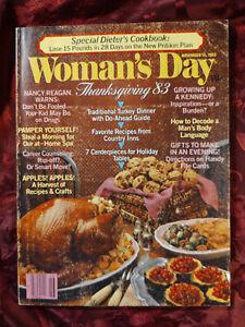 WOMANS DAY magazine November 15 1983 THANKSGIVING