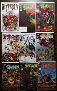 Spawn Lot Of 9! See Description, Image Comics, Todd Mcfarlane, 1st app Angela
