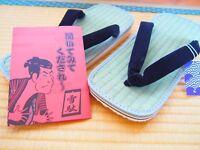 Setta Zori Japanese Sandals Igusa Tatami Rush Made In Japan Size M - 4L