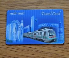 Delhi Metro Underground System Travel Card Travelcard collectable India Indian