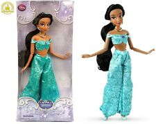 "NEW Disney Store Aladdin Princess Jasmine 12"" Classic Posable barbie doll NIB"