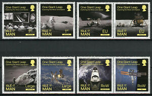 Isle of Man IOM Space Stamps 2020 MNH Exploring the Moon Skylab 8v Set in Pairs