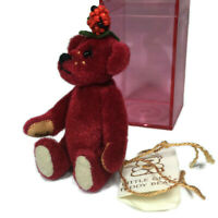 Little Gem teddy bear Strawberry miniature in red box signed limited edition L