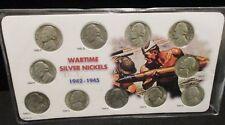 Silver Wartime Nickel Set - Better than average 11 pieces        ENN COINS