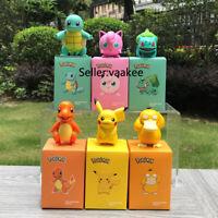 Pikachu Psyduck Charmander Jigglypuff Bulbasaur Squirtle Action Figure PVC Toy