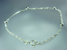 925 Sterling Silber Singapurarmband 18 cm mit Silberkugeln RUND 4 mm Kugel NEU
