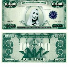Rare! Cher $10,000 Dollar Bill From Farewell Concerts Hollywood Bowl