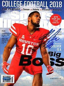 ED OLIVER Signed Autographed Houston Cougars Sports Illustrated Magazine TriStar