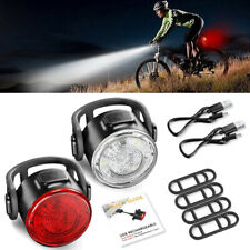 12LED Rechargeable Bike Bicycle Light USB Waterproof Cycle Front Back Headlight