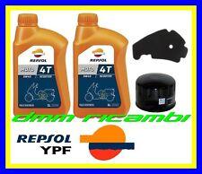 Kit Tagliando PIAGGIO BEVERLY 500 10>11 + Filtro Aria Olio REPSOL 5W40 2010 2011