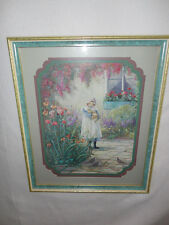 Home Interiors ''Girl with Kitten '' Picture 15.5'' x 18.5'' Sale
