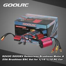 Goolrc S2430 5800kv motor sin escobillas y 25a ESC para 1/16 1/18 RC coche Q4o0