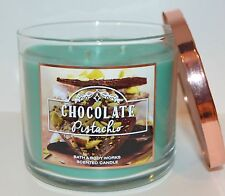 NEW BATH & BODY WORKS CHOCOLATE PISTACHIO SCENTED CANDLE 3 WICK 14.5 OZ LARGE