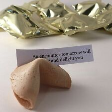 Chinese Fortune Cookies: Pack of 30: Gold Foil Wrappers