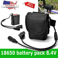 8.4V USB Rechargeable 12000mAh 6X18650 Battery Pack For Bicycle Head Light Torch