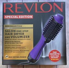Revlon SPECIAL EDITION- Pro Salon One Step Hair Dryer & Volumizer Brush Purple