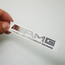 2x AMG Logo Chrome Rearview & Interior Surface Sticker Badge For Mercedes Benz