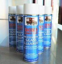 Don's Mobile Glass Professional Glass and Surface Cleaner - Lot of 6 19oz Cans