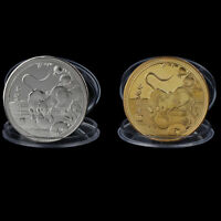 2020 Year of the Rat Fortune Commemorative Coin Chinese Zodiac Souvenir HU