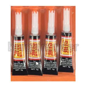 4 Tubes Super Glue  Strong Adhesive CYANOACRYLATE 3 grams