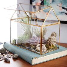Glass House Terrarium Flower Succulent Plant Planter Pot Box Home Decor #9