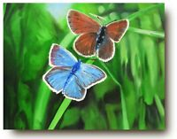 Oil Painting on Canvas | Nature | Modern Art | Butterfly | Grass | Forest