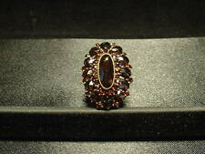 VINTAGE GERMAN 14K GOLD BOHEMIAN GARNET CLUSTER RING! FULLY HALLMARKED! 9-CTS +