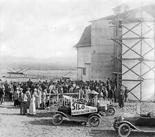 "Photo 1910s Oregon ""Crowd, Automobiles - Silo Demonstration Tour"""