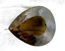120.50 Carat Natural Pear Teardrop Natural Smoky Quartz Gem Gemstone EBS249