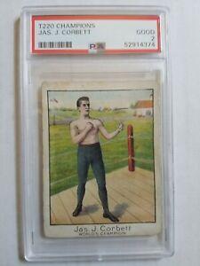 1910 T220 Champions Jas J. Corbett - PSA 2