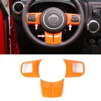 Orange Steering Wheel Cover Trim Fit for Wrangler Compass Patriot Grand Cherokee