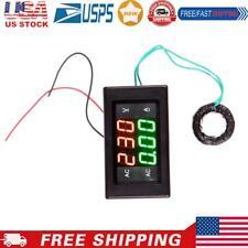 Ac 60 500v 100a Digital Voltmeter Ammeter Led Amp Volt Meter Ct Black