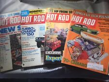 HOT ROD MAGAZINE LOT OF 4 3/1970 - 12/1973 CAMARO FUNNY CAR ROTARY CORVETTE VG-