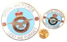 RAF aeronautica Con stemma Smalto Commemorativo Moneta, Spilla Set & Borsa