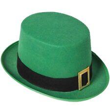Mens Leprechaun Fancy Dress Top Hat St Patricks Day Irish Topper Hat New