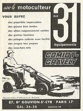 W5006 Motocoltivatore Comiot-Gravely - Pubblicità 1961 - Advertising