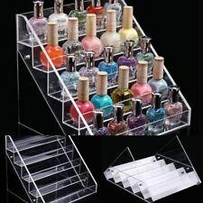 Acrylic Tiers Lipstick Nail Polish Display Rack Stand Holder Cosmetic Organizer
