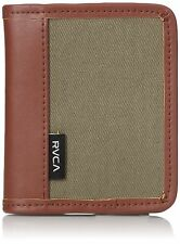 RVCA Men's Stockholm Wallet Dark Khaki NEW