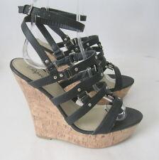 Nero NUOVO 14cmhigh tacco con zeppa 3.8cmplatforms Cinturino alla caviglia