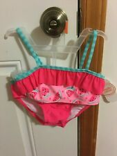 Brand New Toddler Girls Size 4T Wonder Nation 2 Piece Flounce Bikini Swim Suit