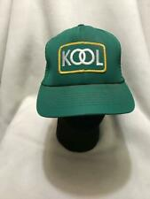 Vintage Kool Cigarettes Patch Green Trucker Snapback Hat Made in USA