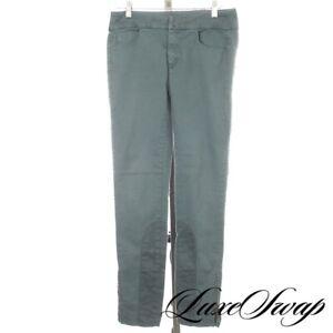 Maison Martin Margiela MM6 Teal Seafoam Pique Jersey Inset Pants Trousers 40 NR